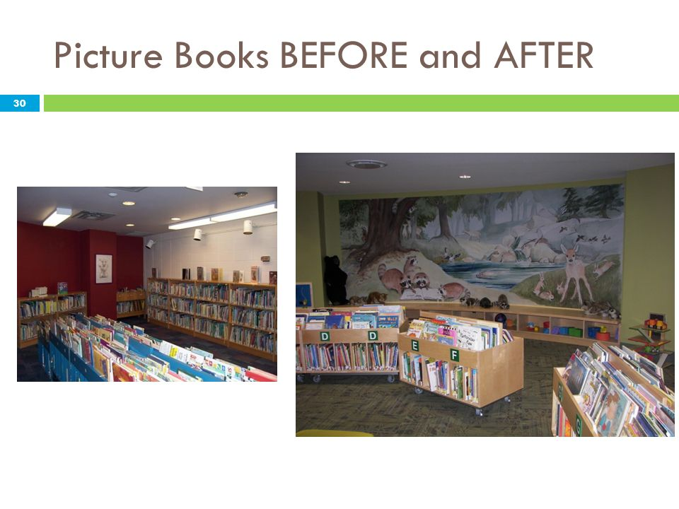 Picture Books BEFORE and AFTER