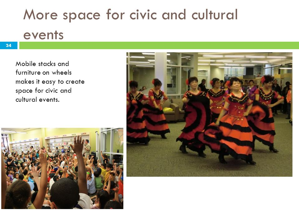 More space for civic and cultural events