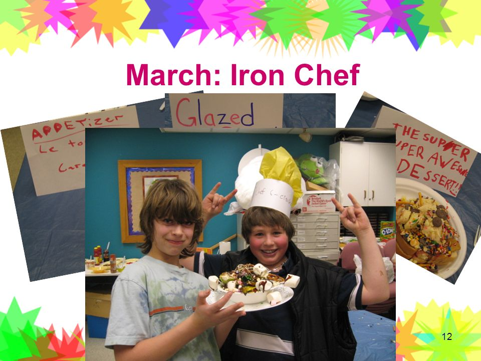 March: Iron Chef