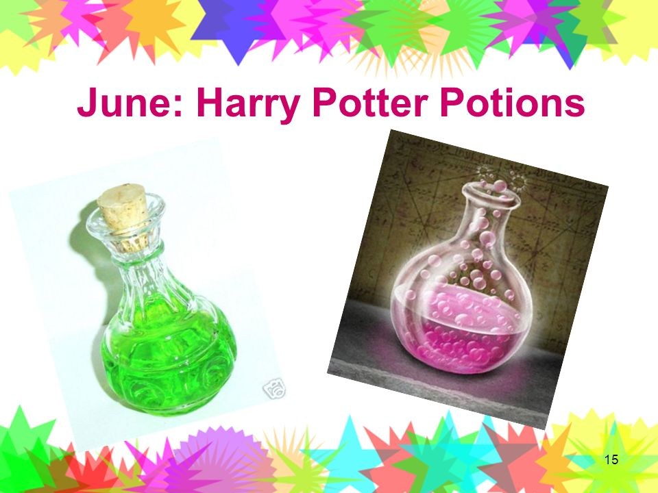 June: Harry Potter Potions