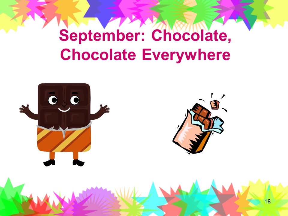 September: Chocolate, Chocolate Everywhere