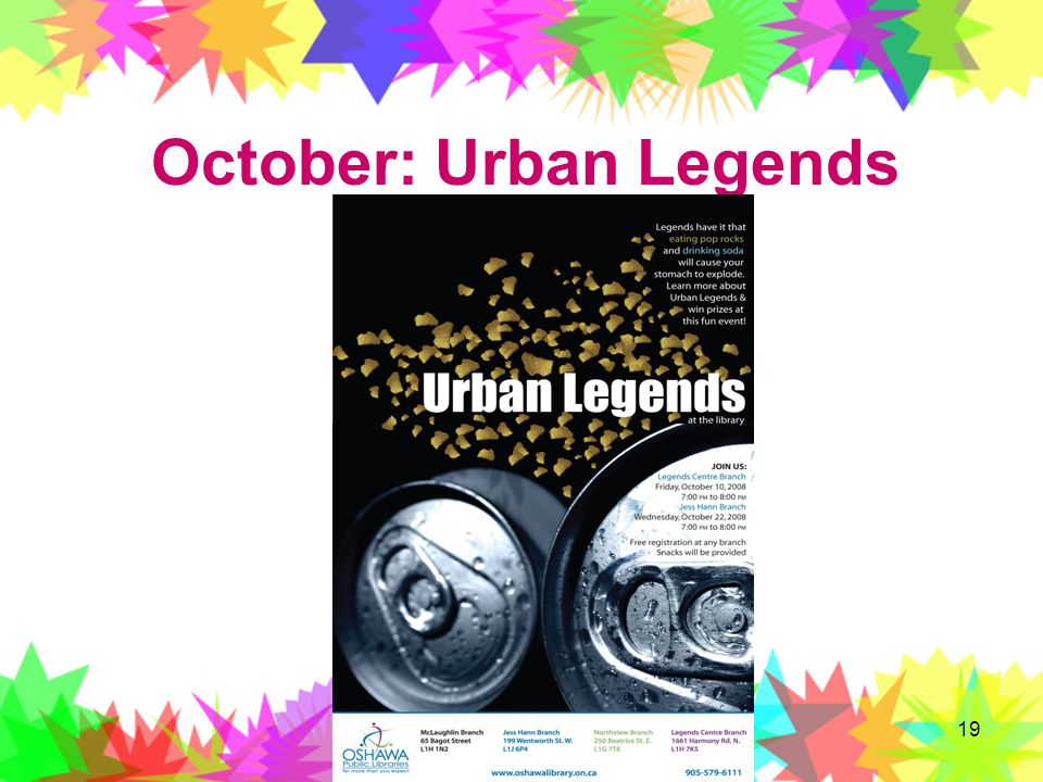 October: Urban Legends