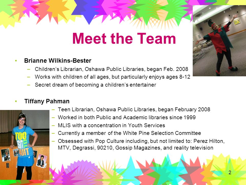 Meet the Team Brianne Wilkins-Bester Tiffany Pahman
