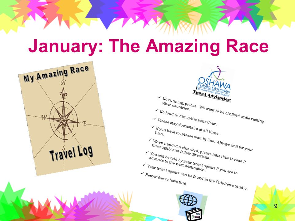 January: The Amazing Race