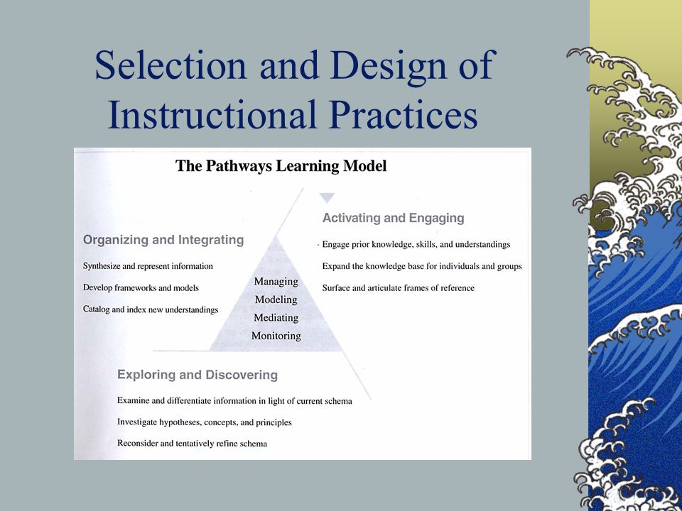 Selection and Design of Instructional Practices