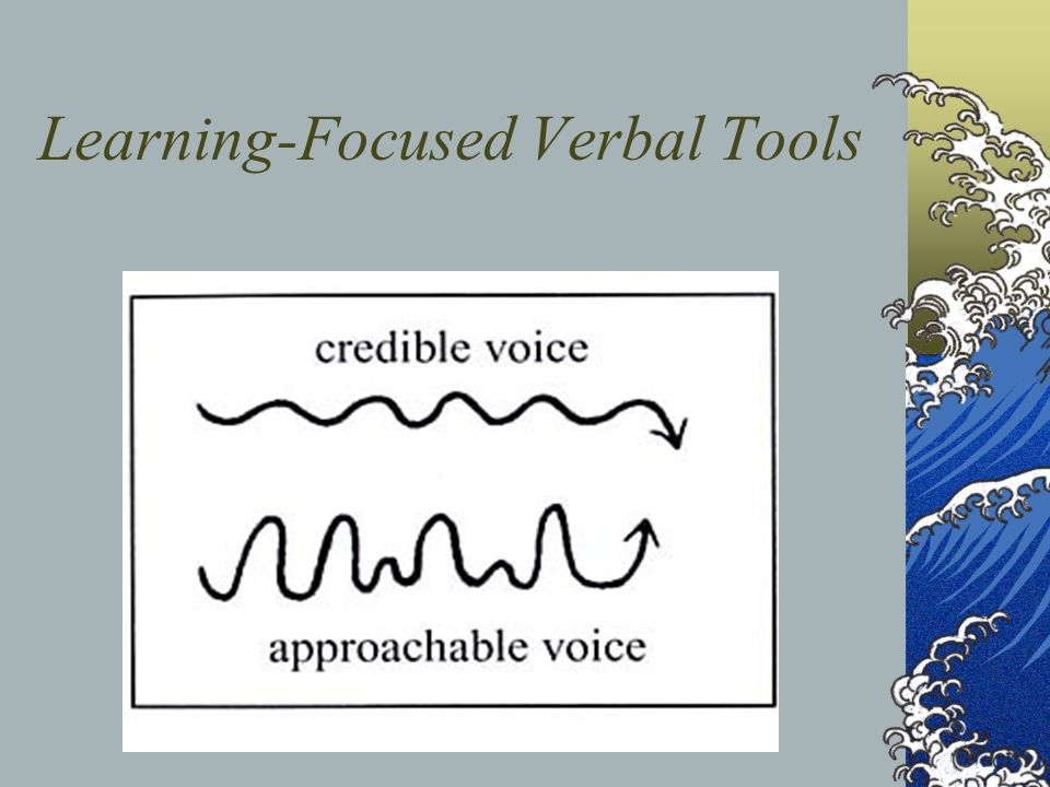 Learning-Focused Verbal Tools