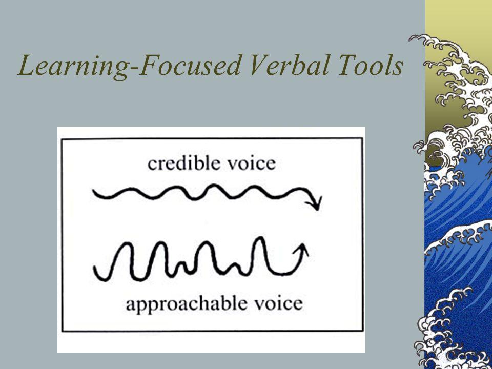 Learning-Focused Verbal Tools