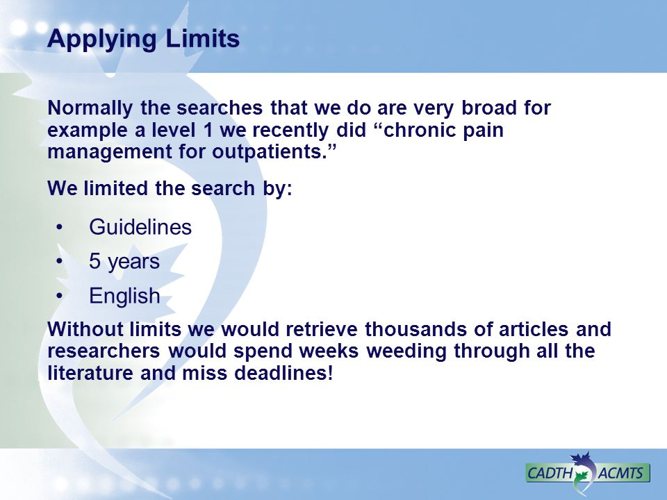 Applying Limits Guidelines 5 years English