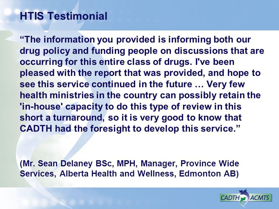 HTIS Testimonial