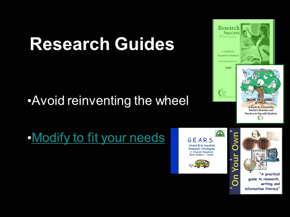 Avoid reinventing the wheel Modify to fit your needs