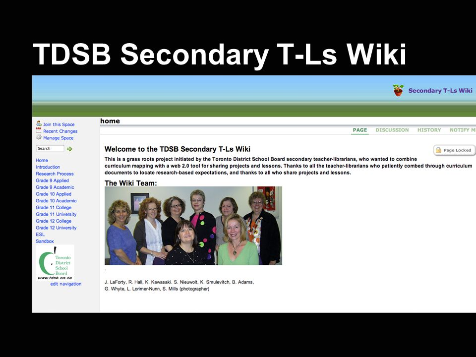 TDSB Secondary T-Ls Wiki
