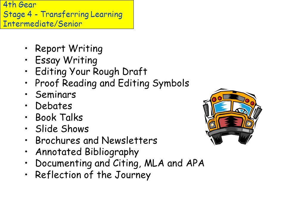 4th Gear Stage 4 - Transferring Learning Intermediate/Senior