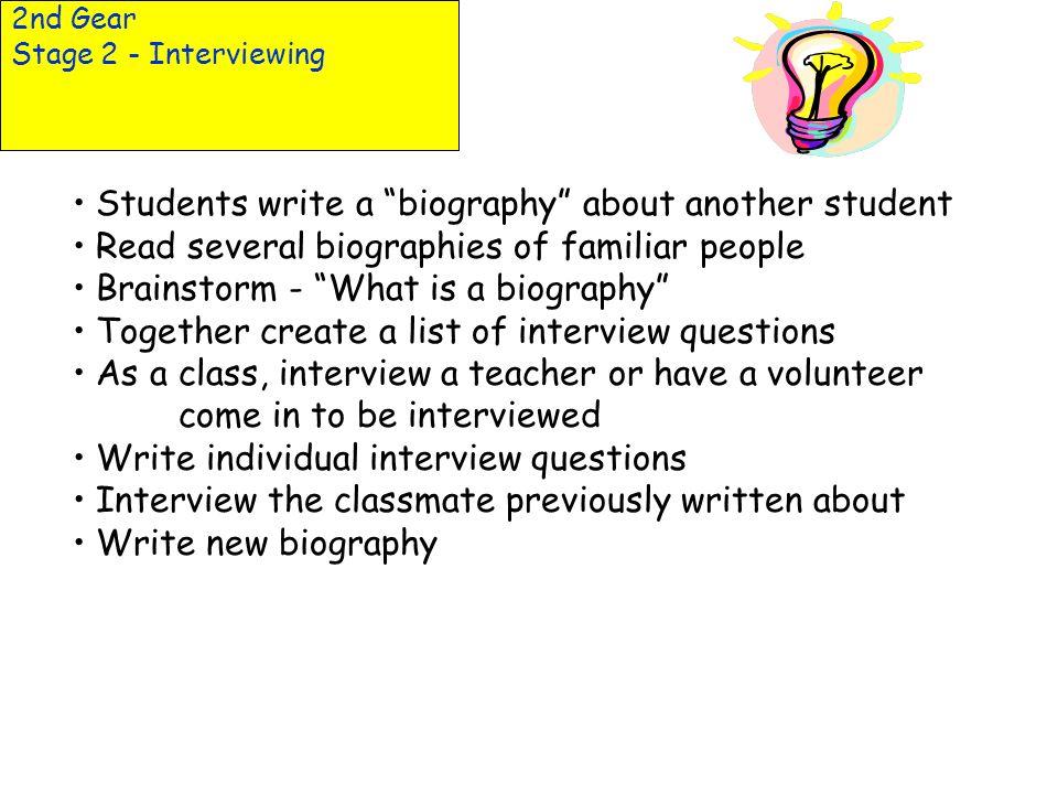 interviewing a classmate essay