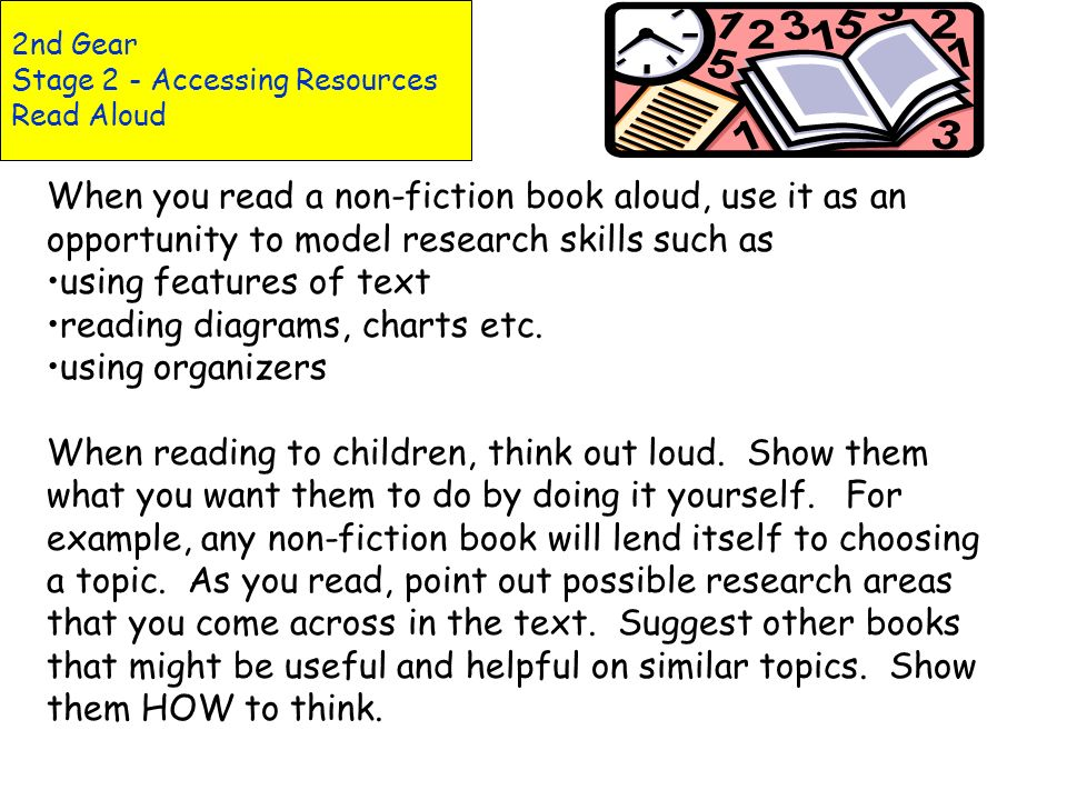 2nd Gear Stage 2 - Accessing Resources Read Aloud