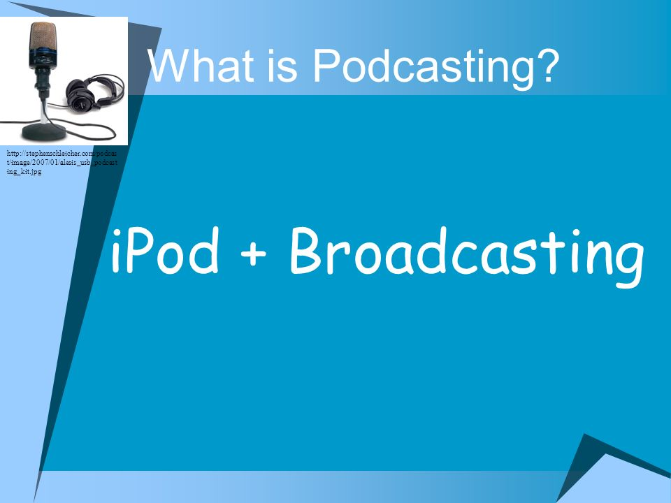 iPod + Broadcasting What is Podcasting
