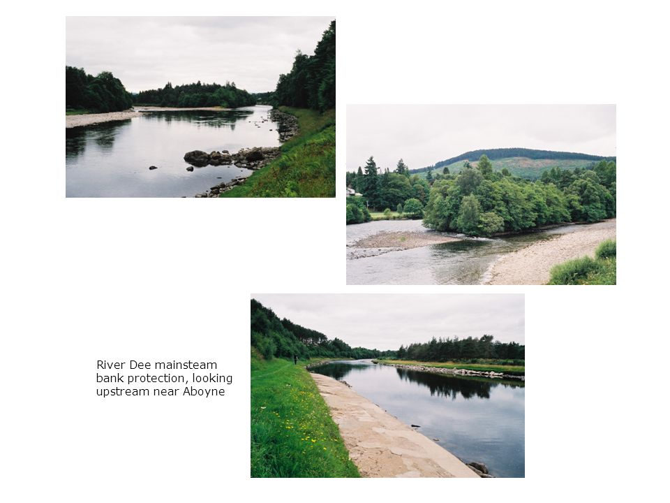 Water of Tanar/ River Dee confluence, looking upstream from Aboyne