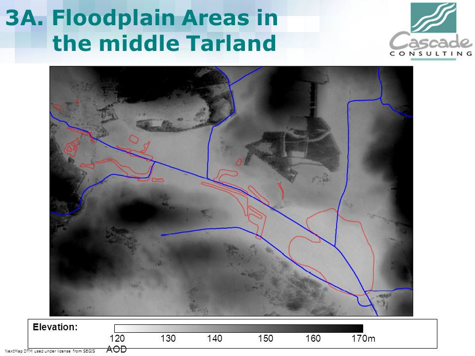 3A. Floodplain Areas in the middle Tarland