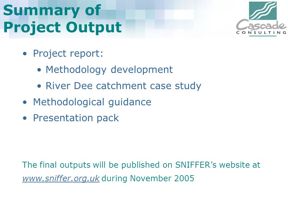 Summary of Project Output