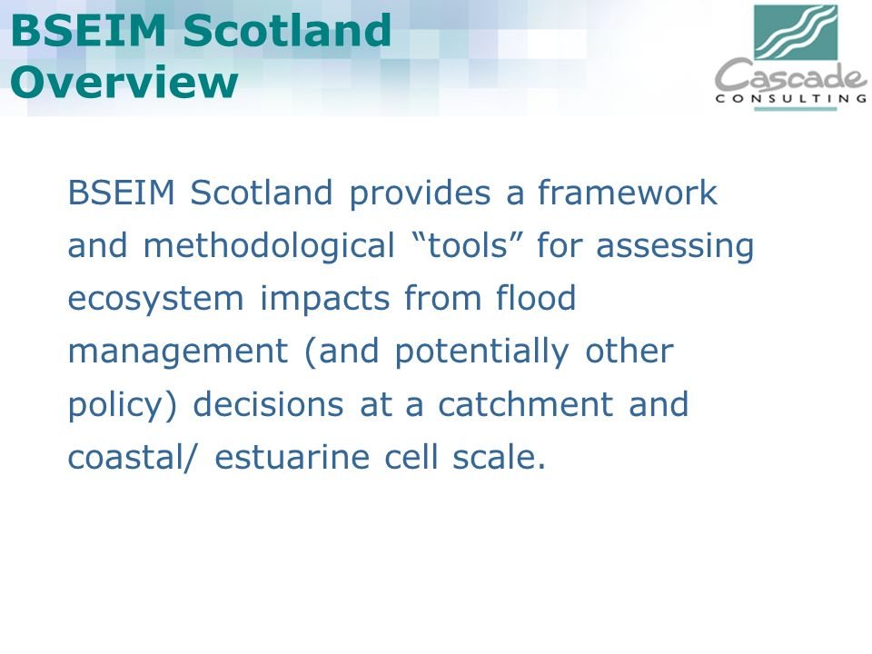 BSEIM Scotland Overview