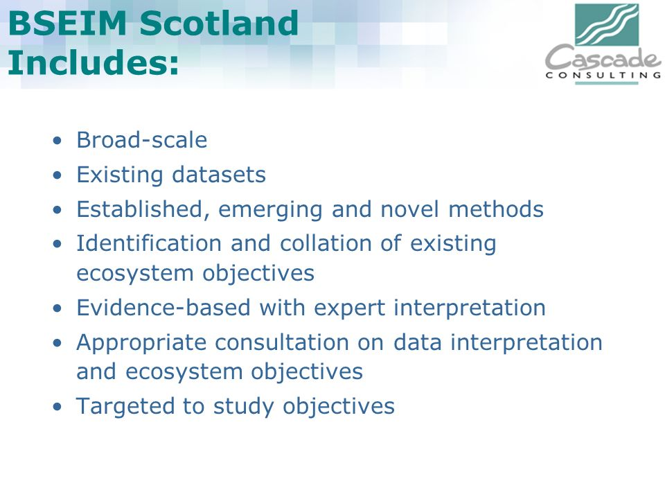 BSEIM Scotland Includes: