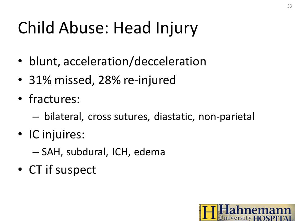 pediatric abusive head trauma essay Pediatric abusive head trauma course #92402 - $10 • 15 hours/credits participation instructions × review the course material online or in print.