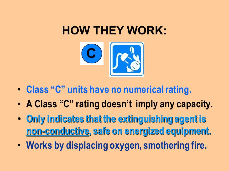 HOW THEY WORK: Class C units have no numerical rating.