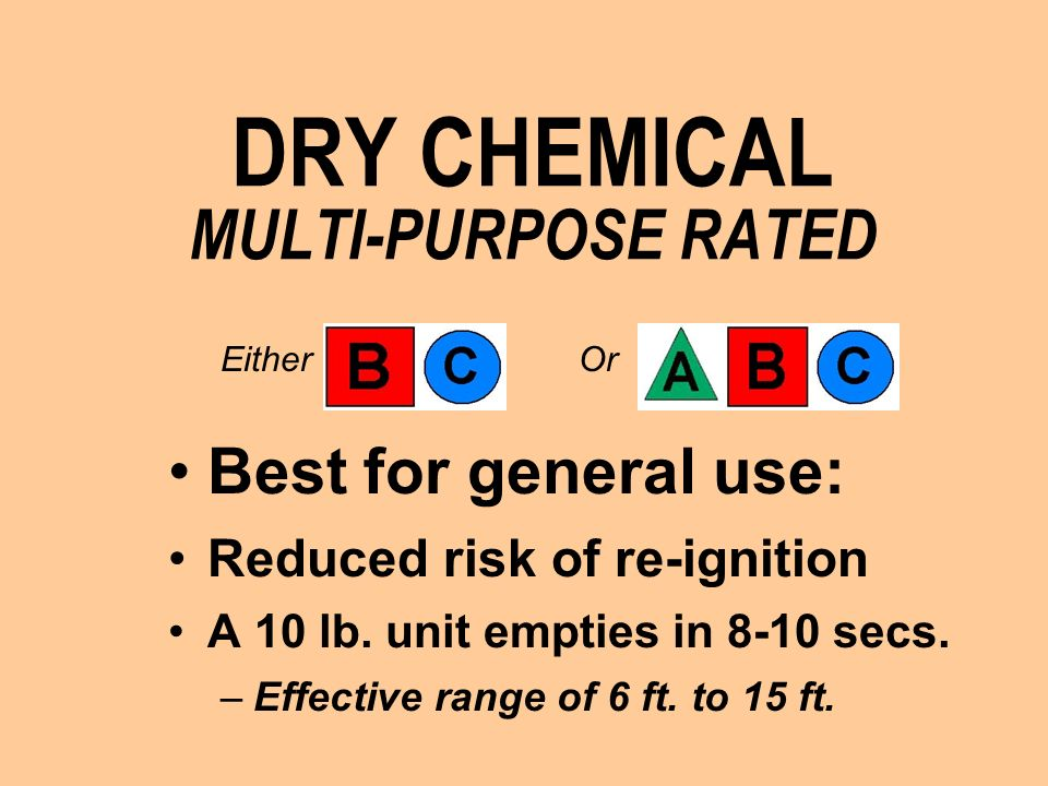 DRY CHEMICAL MULTI-PURPOSE RATED