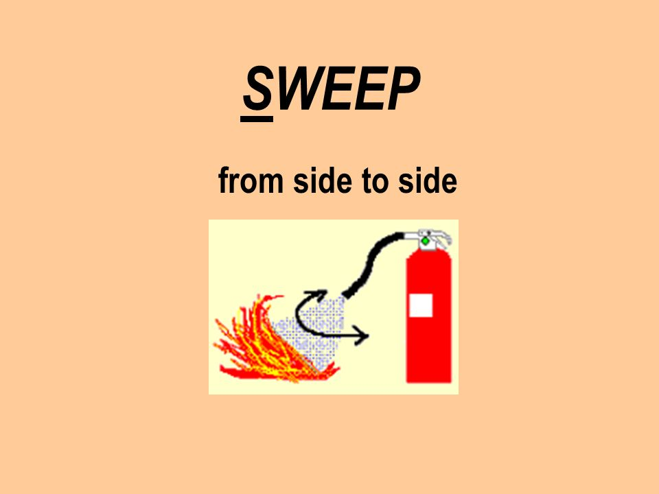 SWEEP from side to side
