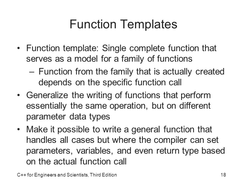 C for engineers and scientists third edition ppt video for What is template function