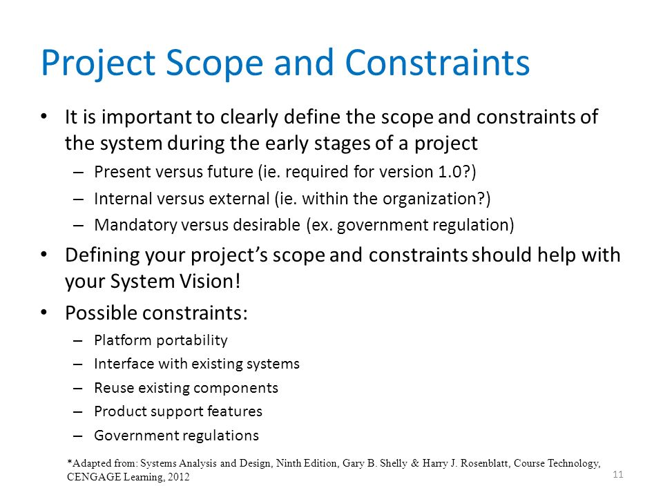 internal and external constraints to project pdf