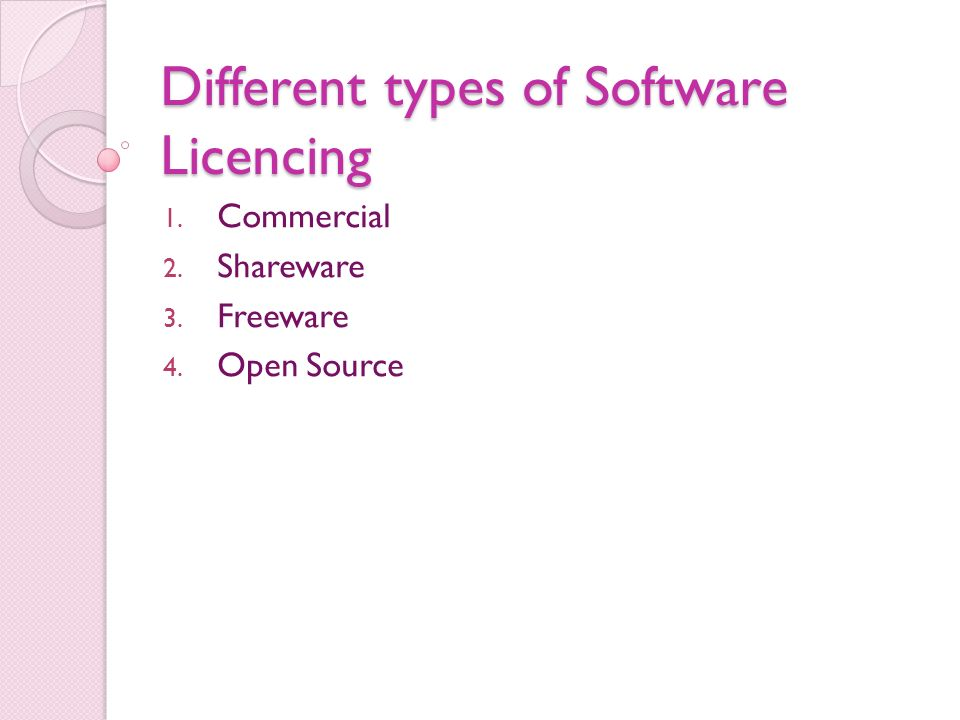 different types of software The five different types of firewalls learn about the similarities and differences between five basic types of firewalls, including packet filtering firewalls, application-level gateways and next.