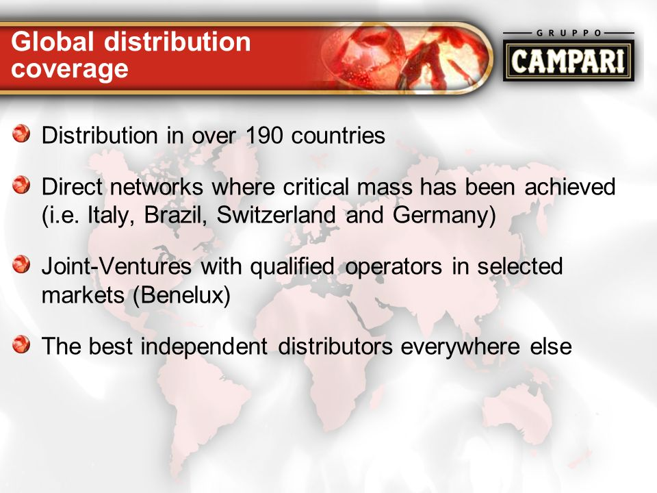 Global distribution coverage