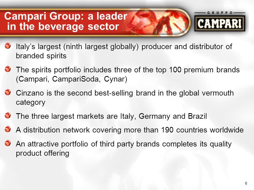 Campari Group: a leader in the beverage sector