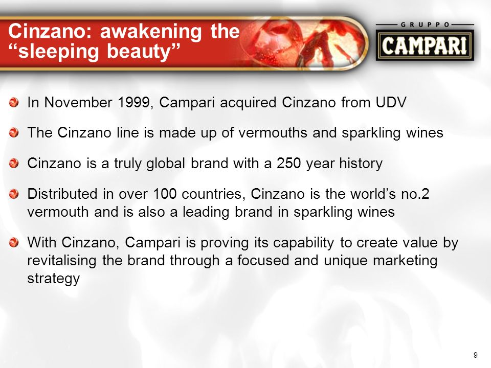Cinzano: awakening the sleeping beauty