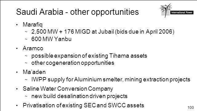 Saudi Arabia - other opportunities