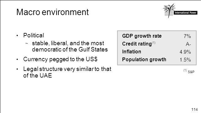 Macro environment Political