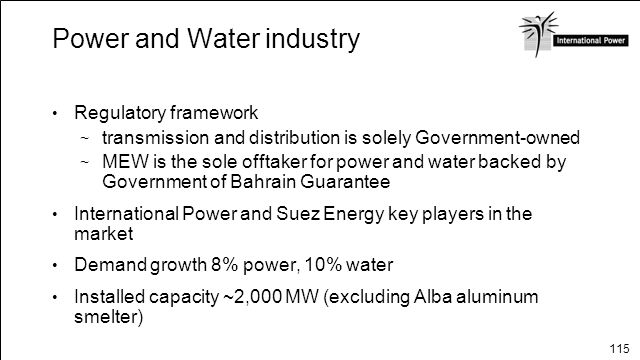 Power and Water industry