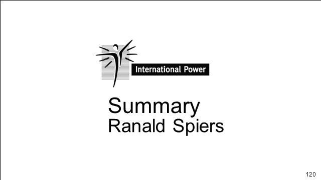 Summary Ranald Spiers SUMMARY Page 1
