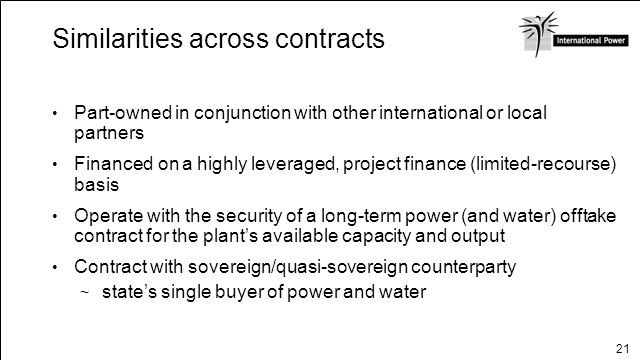 Similarities across contracts