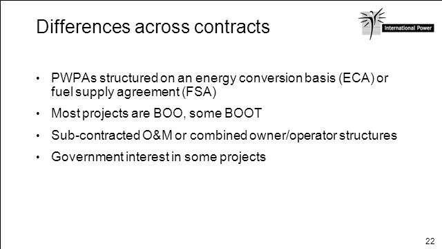 Differences across contracts