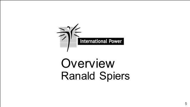 Overview Ranald Spiers OVERVIEW Page 1