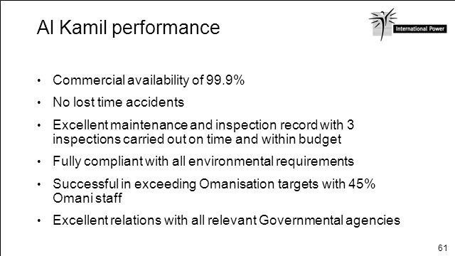 Al Kamil performance Commercial availability of 99.9%