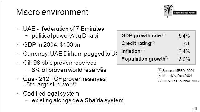 Macro environment UAE - federation of 7 Emirates