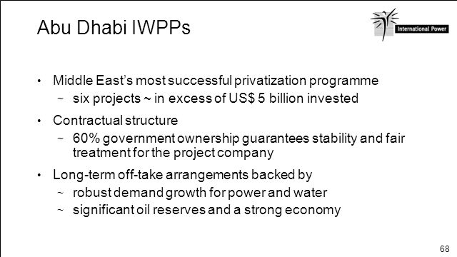 Abu Dhabi IWPPs Middle East's most successful privatization programme