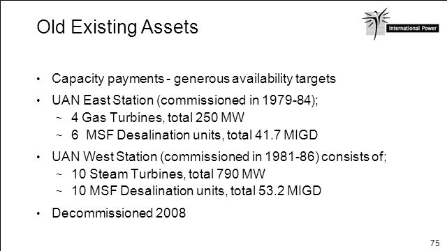 Old Existing Assets Capacity payments - generous availability targets