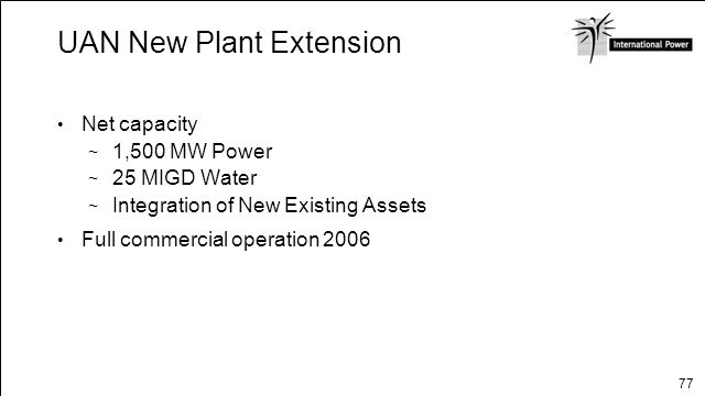 UAN New Plant Extension