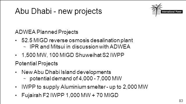 Abu Dhabi - new projects