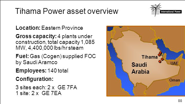 Tihama Power asset overview