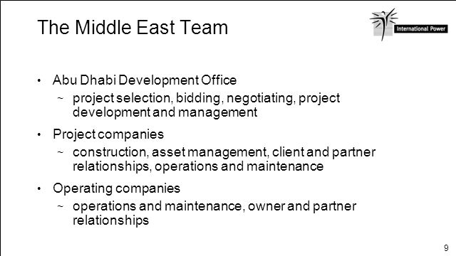 The Middle East Team Abu Dhabi Development Office