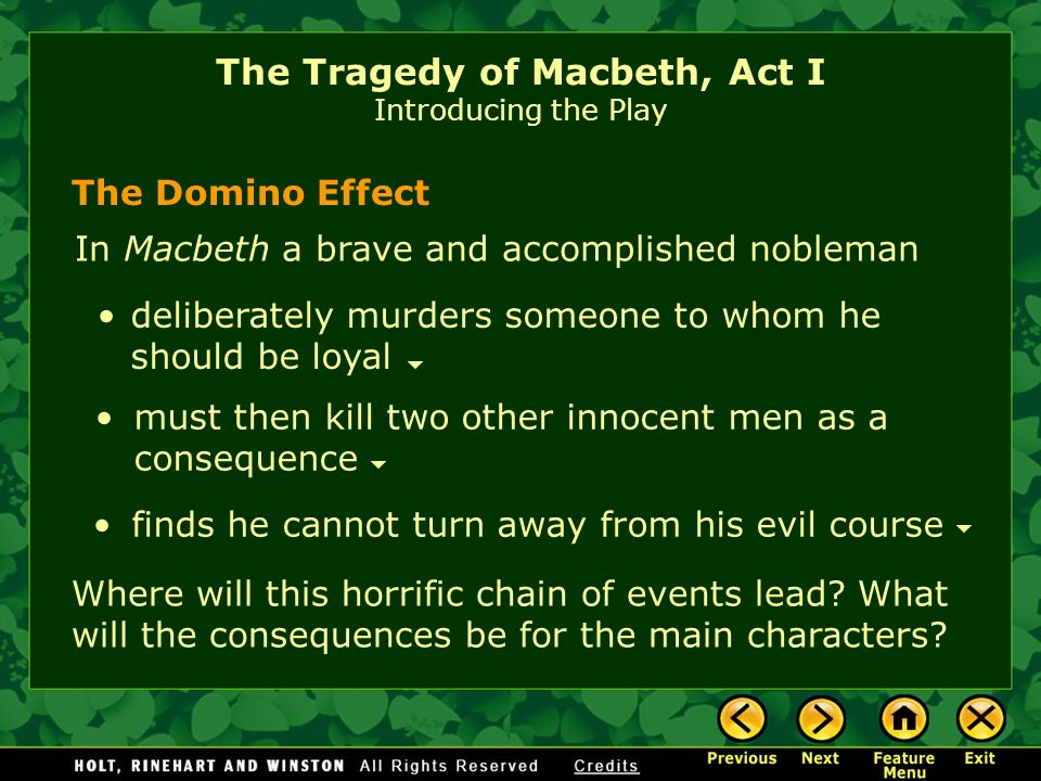 an analysis of the major characters on the play macbeth Lady macbeth is a leading character in william shakespeare's tragedy macbeth (c1603–1607) the wife of the play's tragic hero, macbeth (a scottish nobleman), lady macbeth goads her husband into committing regicide, after which she becomes queen of scotlandlater, however, she suffers pangs of guilt for her part in the crime, which drives her to sleepwalk.